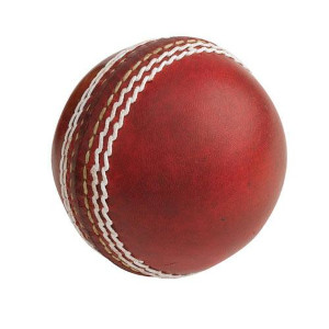 red leather ball