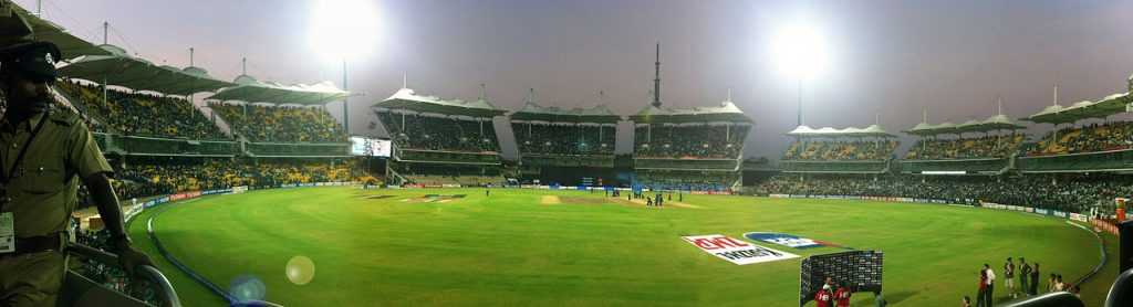 MA Chidambaram stadium in Chennai during the practice match of India vs New Zealand of 2011 ICC World Cup