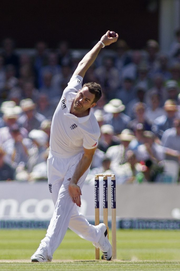 James Anderson swing bowling
