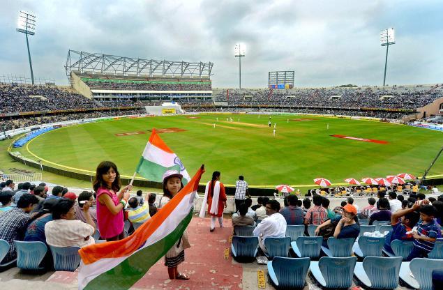 Rajiv Gandhi International Stadium in Hyderabad, India