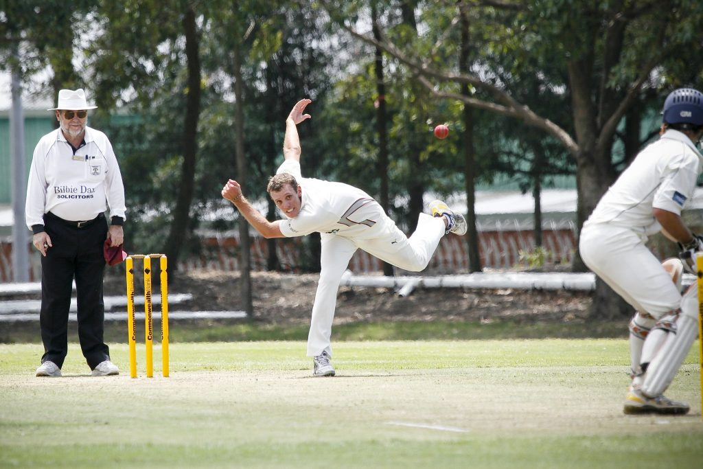 Cricket Bowler in Action