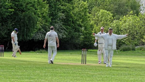 umpire signaling wide ball