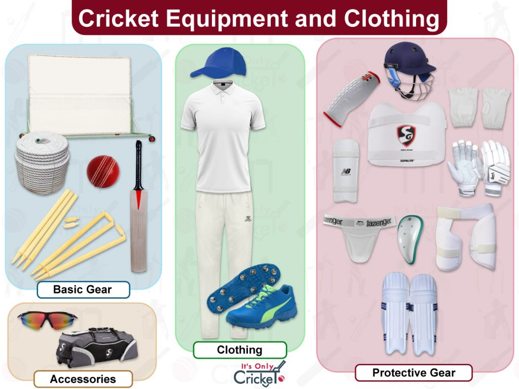 Cricket Equipment and Clothing
