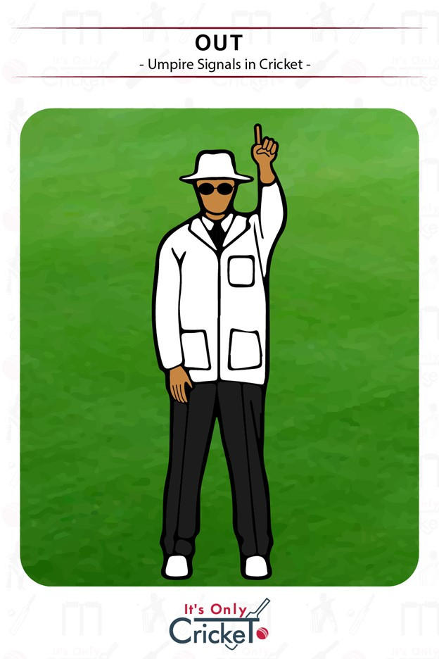 Out umpire signals