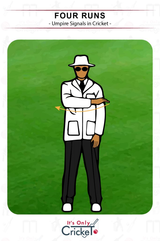 Cricket Umpire Signal Four Runs