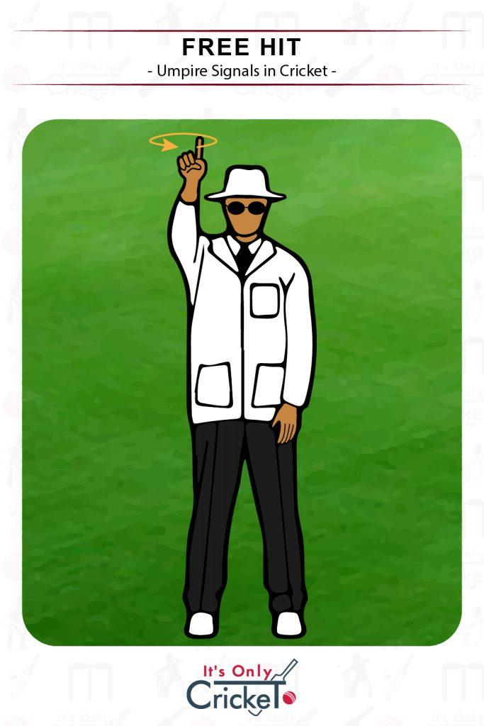 Cricket Umpire Signal Free Hit