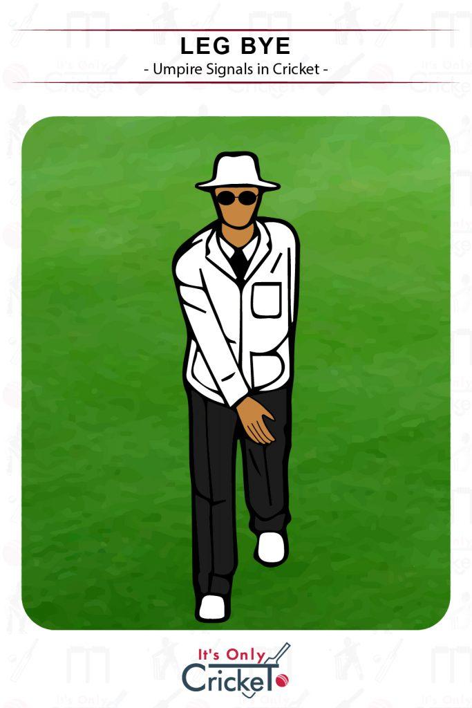 Cricket Umpire Signal Leg Bye