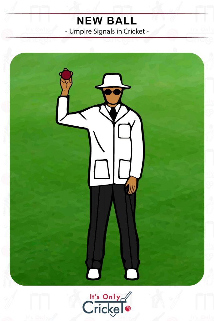Cricket Umpire Signal New Ball
