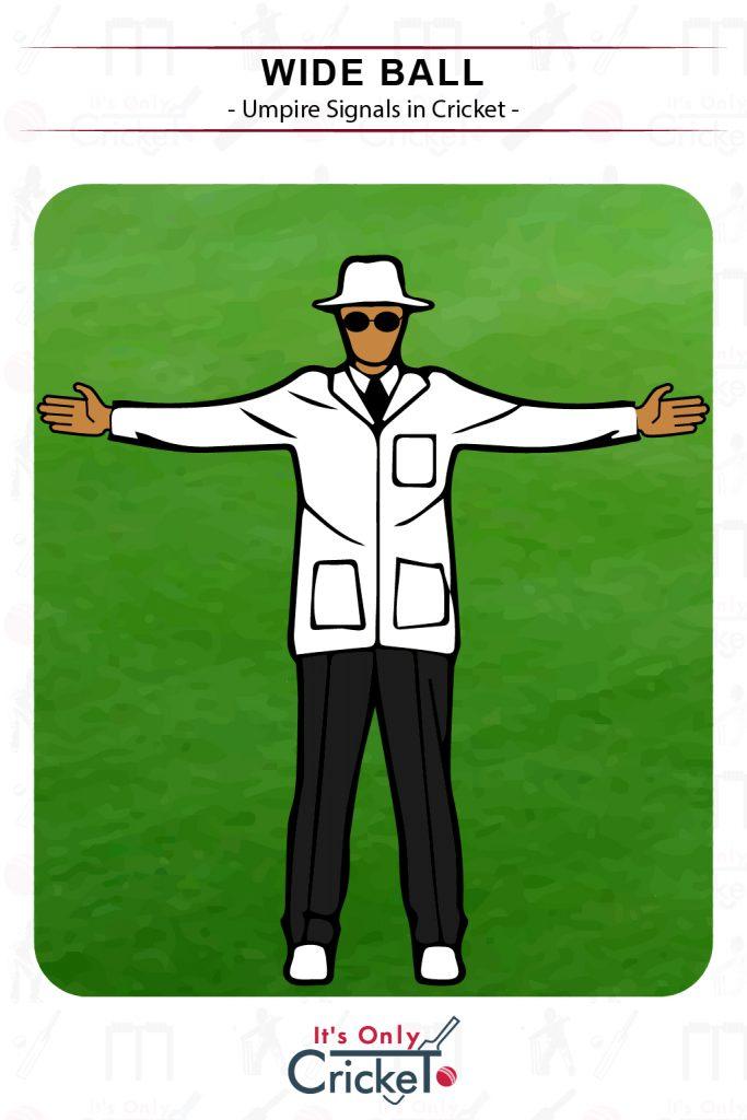 Cricket Umpire Signal Wide Ball